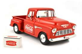 Motor City Classics - Chevrolet  - mocity435683 : 1955 Chevrolet Step Side pick-up *Coca Cola*, red