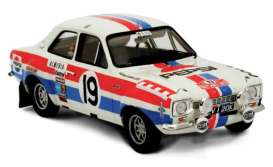 Triple9 Collection - Ford  - T9-1800131 : 1972 Ford Escort RS 1600 MKI #19 Rally Monte Carlo T.Makinen/H.liddon *Diecast Sealed Body Series*, white/red/blue