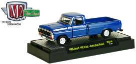 M2 Machines - Ford  - M2-32500WC08-1 : 1969 Ford F-100 pick-up, blue