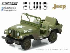 GreenLight - Willys  - gl86311 : Cold War Era Willys Army Jeep *Elvis Presley 1935-77*, army green