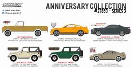GreenLight - Assortment/ Mix  - gl27850~12 : Assortment of 12 *Anniversary Collection Series 3*.
