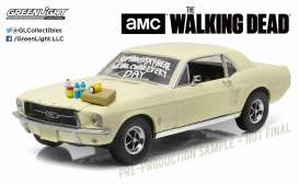 GreenLight - Ford  - gl12958 : 1967 Ford Mustang *Sophia message car* with hood asccesories *The Walking Dead*