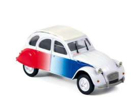 Norev - Citroen  - nor151329 : 1986 Citroen 2CV *Cocorico*, white/red/blue