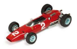 Triple9 Collection - Ferrari  - T9E1800503 : 1964 Ferrari 158 F1 #2 J. Surtees GP Italy winner *diecast with resin parts and vissable engine*, red