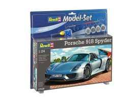 Revell - Germany - Porsche  - revell67026 : Model set Porsche 918 spyder, plastic modelkit with glue, paint and pencil