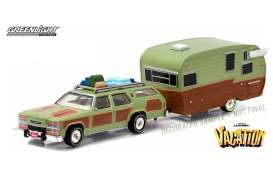 GreenLight - National Lampoon Truckster Shasta - gl51036 : National Lampoons Vacation (1983). 1979 Family Truckster & Shasta caravan *Hitch and tow Series*