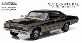 GreenLight - Chevrolet  - gl19024 : 1967 Chevrolet Impala Sport Sedan *Supernatural TV Series*. Artisan Diecast Sealed Body Collection, Black Chrome limited edition.