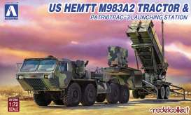 Aoshima - US  - abk097922 : 1/72 US HEMTT M983A2 Tractor & patroitpac-3 Launching Station, plastic modelkit