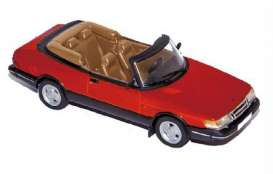 Norev - Saab  - nor810042 : 1992 Saab 900 Coupe Turbo 16 Cabriolet, red