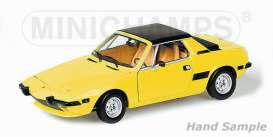 Minichamps - Fiat  - mc100121664 : 1974 Fiat X1/9, yellow