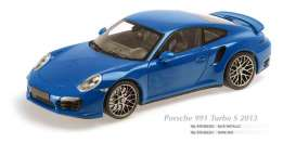 Maxichamps - Porsche  - mc910062320 : 2013 Porsche 911 Turbo S, blue metallic