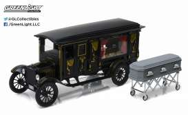 GreenLight Precision Collection - Ford  - GLPC18013 : 1921 Ford Model T Ford Ornate Carved Hearse *Sunset Coach*