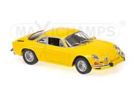 Maxichamps - Renault  - mc940113601 : 1971 Renault Alpine A110, yellow