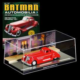 Magazine Models - Batman  - magBAT-12 : 1/43 Batman Batmobile Detective Comics #27, red