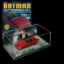 Magazine Models - Batman  - magBAT-47 : 1/43 Batman Batmobile Robin #1 (Robin Vehicle), red