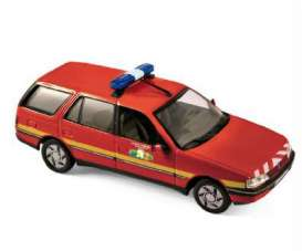 Norev - Peugeot  - nor474553 : 1991 Peugeot 405 break Pompiers, red