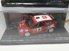 Magazine Models - Citroen  - MagRAc2no4 : 2004 Citroen C2 S1600 #4, red/white