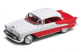 Welly - Oldsmobile  - welly19869Hr*2 : 1955 Oldsmobile Super 88 hard top, red/white