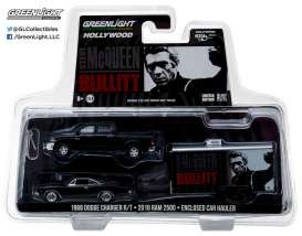 GreenLight - Dodge Ram - gl31020B : 2017 Ram 2500 Power Wagon with 1968 Bullit Dodge Charger in Enclosed Car Hauler *Hollywood Hitch & Tow Series 2*