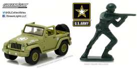 GreenLight - Jeep  - gl29884 : 2016 Jeep Wrangler *US Army* with US Army Soldier Figure