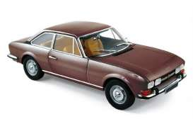 Norev - Peugeot  - nor184822 : 1973 Peugeot 504 Coupé, brown metallic