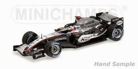 Minichamps - McLaren  - mc435050109 : 2005 McLaren MP4-20 #9 Kimi Räikkönen Winner of SPA GP, silver/black