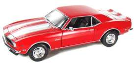 Welly - Chevrolet  - welly12553r*1 : 1968 Chevrolet Camaro Z28, red with white stripes