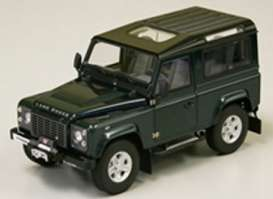 Kyosho - Land Rover  - kyo8901Ggn*6 : Land Rover Defender 90, antree green with black roof.
