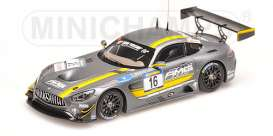 Minichamps - Mercedes  - mc437163016 : 2016 Mercedes-Benz AMG GT3 Jager/Seyffarth/Buurman VLN October, grey