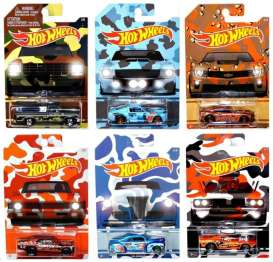 Hotwheels - Assortment/ Mix  - hwmvDNG33~12 : 1/64 Camouflage assortment of 12 (2x6).