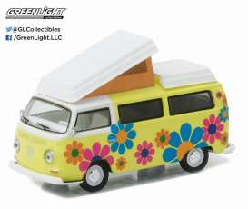 GreenLight - Volkswagen  - gl29860D : 1968 Volkswagen T2 Campmobile Hippie Dippy Van *Club Vee-Dub series 4*