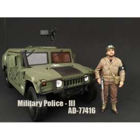 American Diorama - Figures diorama - AD77416 : 1/18 WWII US Military Police Figure #3 with riffle