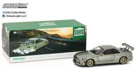 GreenLight - Nissan  - gl19033 : 1999 Nissan Skyline GT-R R34, millennium jade. Artisan Collection with opening doors