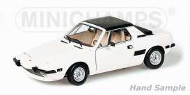 Minichamps - Fiat  - mc100121665 : 1974 Fiat X1/9, white