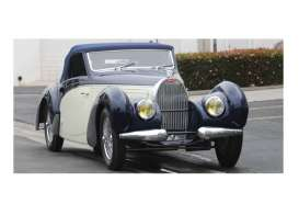 Minichamps - Bugatti  - mc107110130 : 1939 Bugatti Type 57C Avaris *resin series*, black/creme