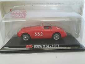 Magazine Models - Osca  - magMMoscaMT4 : 1957 Osca  MT4 #332 Mille Miglia, red
