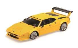 Minichamps - BMW  - mc180792998 : 1979 BMW M1 Procar Plain Body Version, yellow