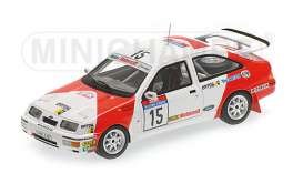 Minichamps - Ford  - mc437878015 : 1987 Ford Sierra RS Cosworth #15 Sainz/Boto Tour de Corse *Resin series*, white/orange