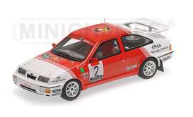 Minichamps - Ford  - mc437878102 : 1987 Ford Sierra RS Cosworth #1 Drogmanns/Joosten Winner Lotto Haspengouw Rally 1987 *Resin series*, red/white