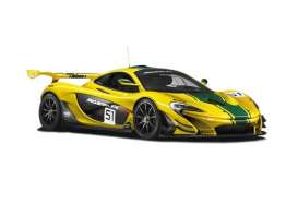 Minichamps - McLaren  - mc537154101 : 2015 McLaren P1 GTR #51 *Resin series*, yellow/black/green