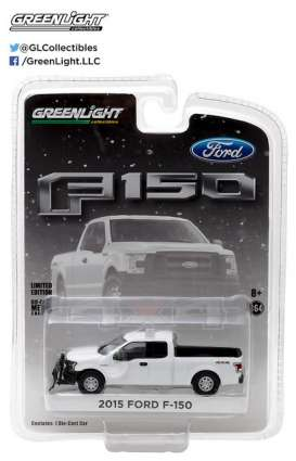 GreenLight - Ford  - gl29875 : 2015 Ford F-150 with Emergency Light Bar and Snow Plow *Hobby Exclusive*