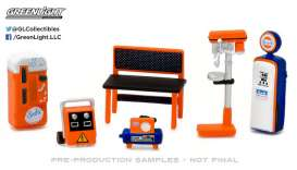 GreenLight - Accessoires diorama - gl13153 : 1/64 GL Muscle Shop Tools *Gulf Oil* Hobby Exclusive