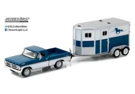 GreenLight - Ford  - gl32090B : 1972 Ford F-100 and Horse Trailer *Hitch and tow Series 9*