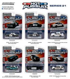 GreenLight - Assortment/ Mix  - gl42780~12 : Hot Pursuit series 21, assortment of 12.