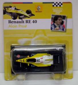 Magazine Models - Renault  - magfor15 : 1983 Renault RE40 #15 *Prost*, yellow/white