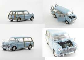 Kyosho - Austin Mini - kyo8194BL*2 : 1969 Austin Mini Countryman, blue/woody