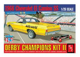 AMT - Chevrolet  - amts1018 : 1/25 1968 Chevrolet El Camino (with Bonus Soap Box Derby Car), plastic modelkit