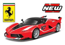 Bburago - Ferrari  - bura16010rb : 2015 Ferrari FXX-K #10 Race and Play, red/black