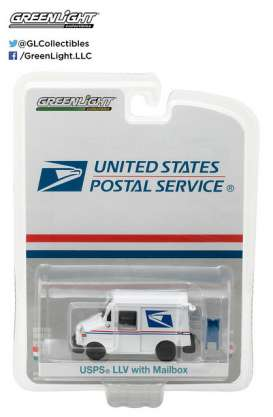 GreenLight - Grumman LLV  - gl29888 : 1/64 United States Postal Service (USPS) Long Life Postal Delivery Vehicle + Mailbox Accessory