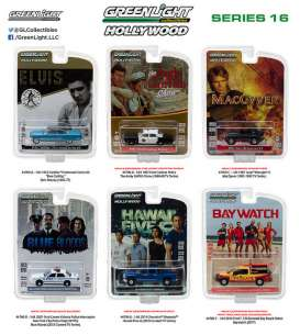 GreenLight - Assortment/ Mix  - gl44760~12 : 1/64 Hollywood series 16, assortment of 12.